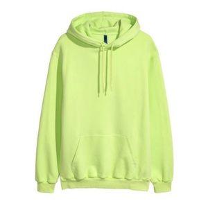 H&M Neon Lime Green Basic Hoodie